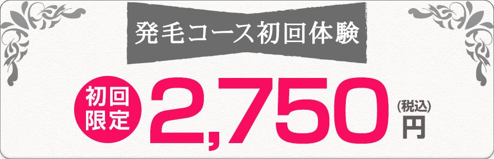 初回体験料2750円(税込)