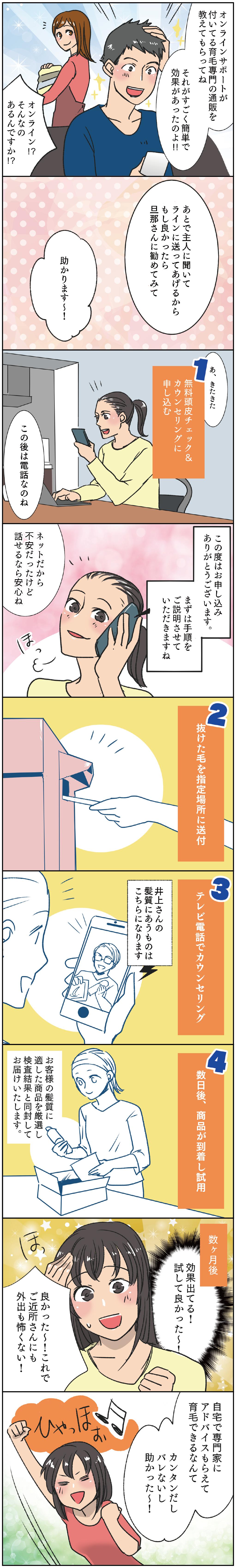 オンライン発毛マンガ02