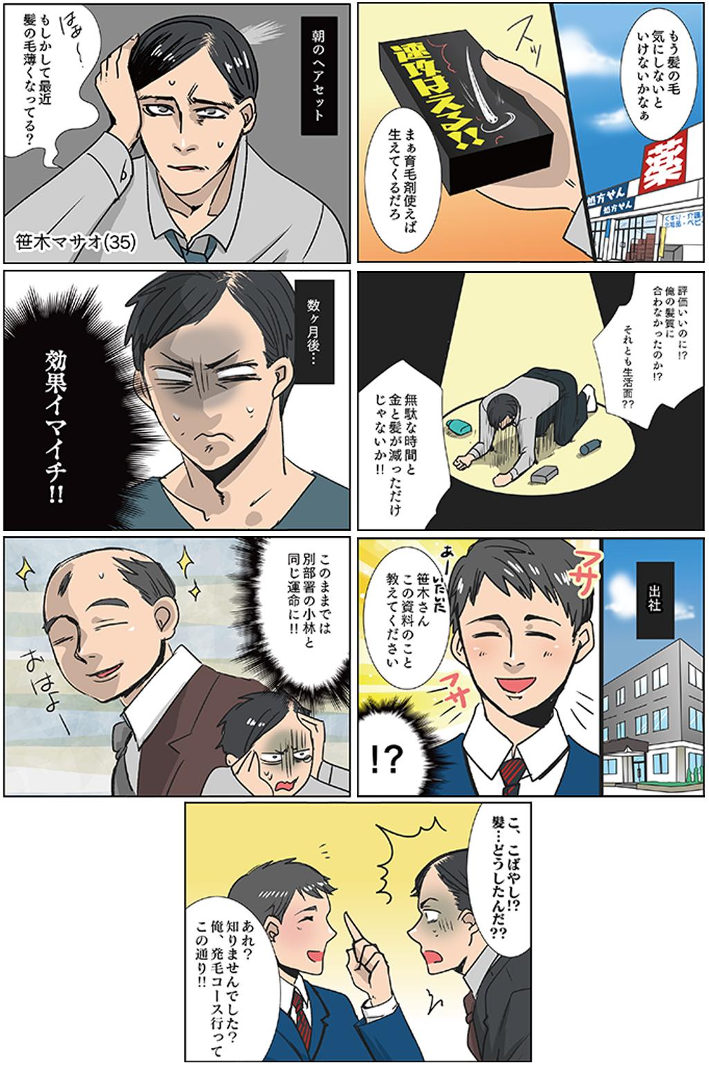 昭和区御器所トレサンパオム 薄毛漫画1